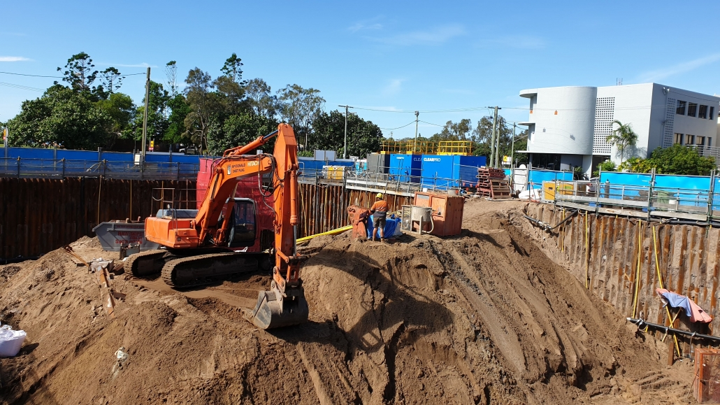 Dewatering Highrise Basement QLD